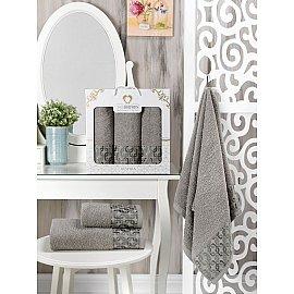 Комплект махровых полотенец Two Dolphins Vespira (50*90*2; 70*140), серый