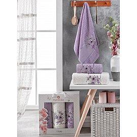 Комплект махровых полотенец Merzuka Bella (50*80*2; 70*130), лиловый