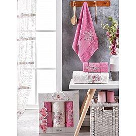 Комплект махровых полотенец Merzuka Bella (50*80*2; 70*130), светло-лиловый