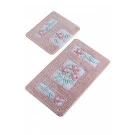 Набор ковриков для ванной DO&CO LINDA (60*100; 40*60), розовый