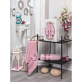 Комплект махровых полотенец TWO DOLPHINS HURREM (50*90; 70*140), розовый