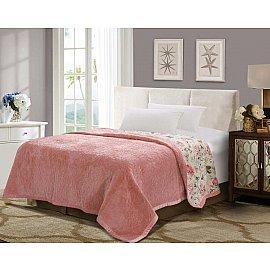 Плед DO&CO Арфа Lux, светло-розовый, 160*220 см