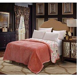 Плед DO&CO Арфа Lux, светло-розовый, 200*220 см