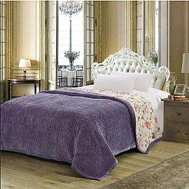 Плед DO&CO Арфа Lux, лиловый, 160*220 см