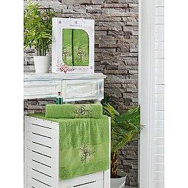 Комплект махровых полотенец MERZUKA BLOOM (50*90; 70*140), зеленый