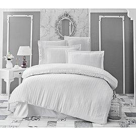 Комплект постельного белья KARNA PERLA Бамбук (Евро), белый