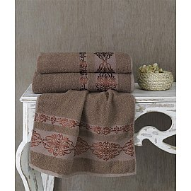 "Полотенце махровое ""KARNA REBEKA"", коричневый, 70*140 cм"