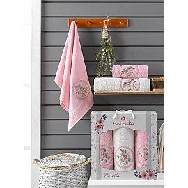 Комплект махровых полотенец Merzuka Fiorella (50*90*2; 70*140), розовый