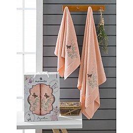 Комплект махровых полотенец Merzuka Papillon (50*90; 70*140), оранжевый