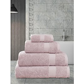 "Полотенца махровое ""KARNA AREL"", грязно-розовый, 100*150 см"