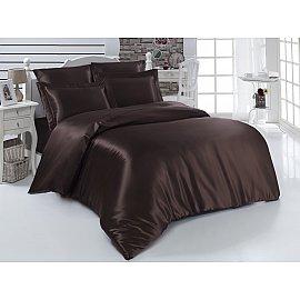 Комплект постельного белья шелк KARNA ARIN 50x70*2 70x70*2 (2 спальный), коричневый