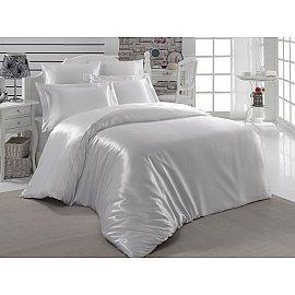 Комплект постельного белья шелк KARNA ARIN (2 спальный), белый