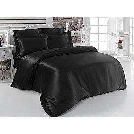 Комплект постельного белья шелк KARNA ARIN 50x70*2 70x70*2 (2 спальный), черный