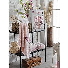 Комплект махровых полотенец TWO DOLPHINS ISABELLA (50*90; 70*140), светло-розовый