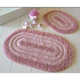 Набор ковриков для ванной DO&CO OVAL EFES (50*60; 60*100), брусничный