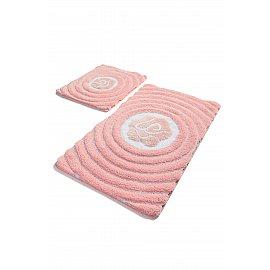 Набор ковриков для ванной DO&CO FLORIA (60*100; 40*60), розовый
