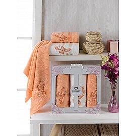 Комплект махровых полотенец Two Dolphins Almira (50*90*2; 70*140), персиковый
