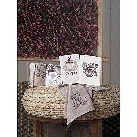 """Набор полотенец кухонных махровых """"KARNA CAFE PRIMA"""", v2, 30*50 см - 3 шт"""