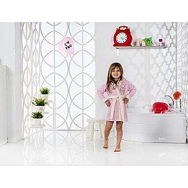 """Халат детский велюр """"KARNA SNOP"""", на 2-3 года, розовый"""