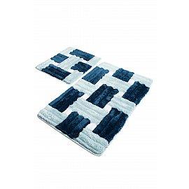 Набор ковриков для ванной DO&CO PIAZZA (60*100; 40*60), голубой