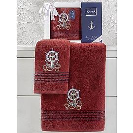 """Комплект махровых полотенец """"KARNA MARIN"""" (50*90; 70*140), бордовый"""