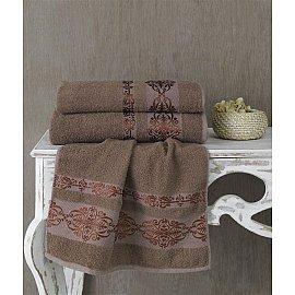 """Полотенце махровое """"KARNA REBEKA"""", коричневый, 100*150 см"""