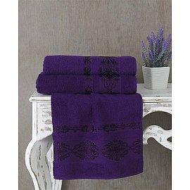 """Полотенце махровое """"KARNA REBEKA"""", фиолетовый, 100*150 см"""