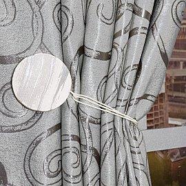 Подхват магнитный дерево Ajur MI M24, белый, серебряный