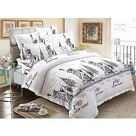 КПБ мако-сатин печатный Freedom (2 спальный), белый