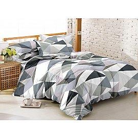 КПБ мако-сатин печатный Crystal (2 спальный), серый