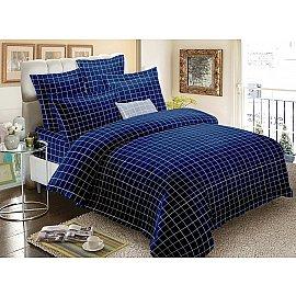 КПБ мако-сатин печатный Indigo (2 спальный), синий