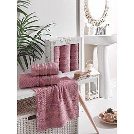 Комплект махровых полотенец TWO DOLPHINS ZENIT (50*90*2; 70*140), брусничный