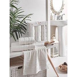 Комплект махровых полотенец TWO DOLPHINS ZENIT (50*90*2; 70*140), кремовый
