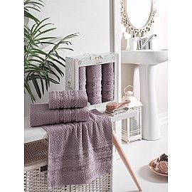 Комплект махровых полотенец TWO DOLPHINS ZENIT (50*90*2; 70*140), баклажан