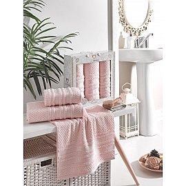 Комплект махровых полотенец TWO DOLPHINS ZENIT (50*90*2; 70*140), светло-розовый