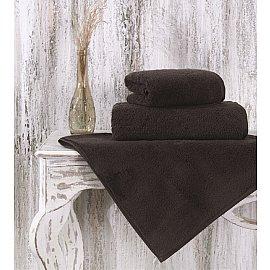 """Полотенце микрокотон цветной """"MORA"""", коричневый, 90*150 см"""