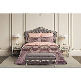 КПБ сатин жаккард Presto (2 спальный), розовый, лиловый