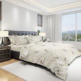 КПБ бязь eco cotton Verona (2 спальный), бежевый, серый