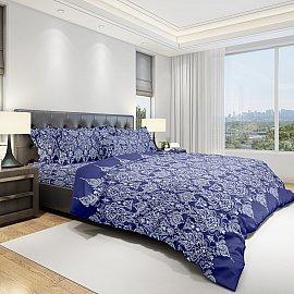 КПБ бязь eco cotton печатный Pattern (1.5 спальный), синий