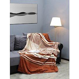 """Плед микрофайбер Absolute """"Абстрактный лабиринт"""", коричневый, 150*200 см"""
