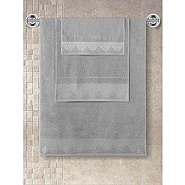 """Полотенце махровое с жаккардом """"KARNA SIESTA"""", серый, 70*140 см"""