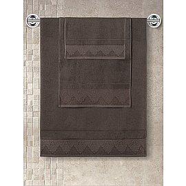 """Полотенце махровое с жаккардом """"KARNA SIESTA"""", коричневый, 70*140 см"""