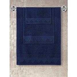 "Полотенце махровое с жаккардом ""KARNA SIESTA"", синий, 70*140 см"