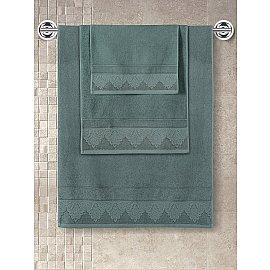 """Полотенце махровое с жаккардом """"KARNA SIESTA"""", зеленый, 70*140 см"""
