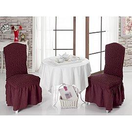 Набор чехлов на стулья 1/2, бордовый