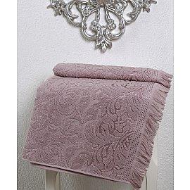 "Полотенце махровое ""KARNA ESRA"", грязно-розовый, 90*150 см"