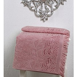 """Полотенце махровое """"KARNA ESRA"""", розовый, 90*150 см"""