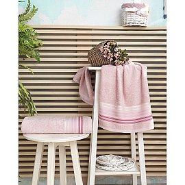 """Полотенце махровое """"KARNA PAULA"""", розовый, 70*140 см"""