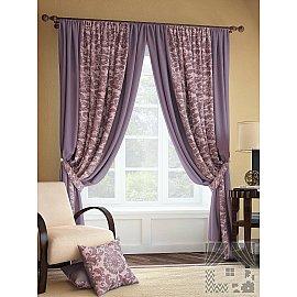 """Комплект штор """"Иналда"""", фиолетовый, 280 см"""