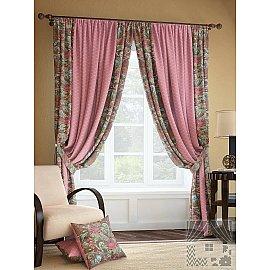 """Комплект штор """"Розиус"""", розово-коричневый, 280 см"""